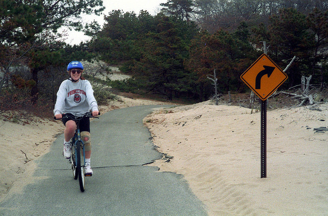 Cape Cod Canal Bike Trail in Sandwich, Massachusetts - Kid
