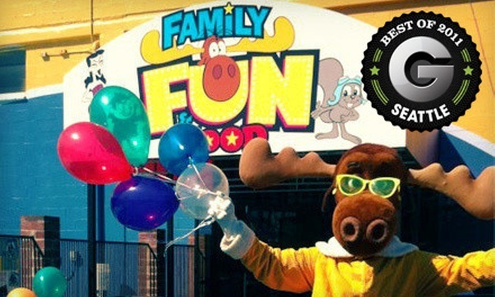 Family Fun Center and Bullwinkle's Restaurant in Tukwila, WA - Kid