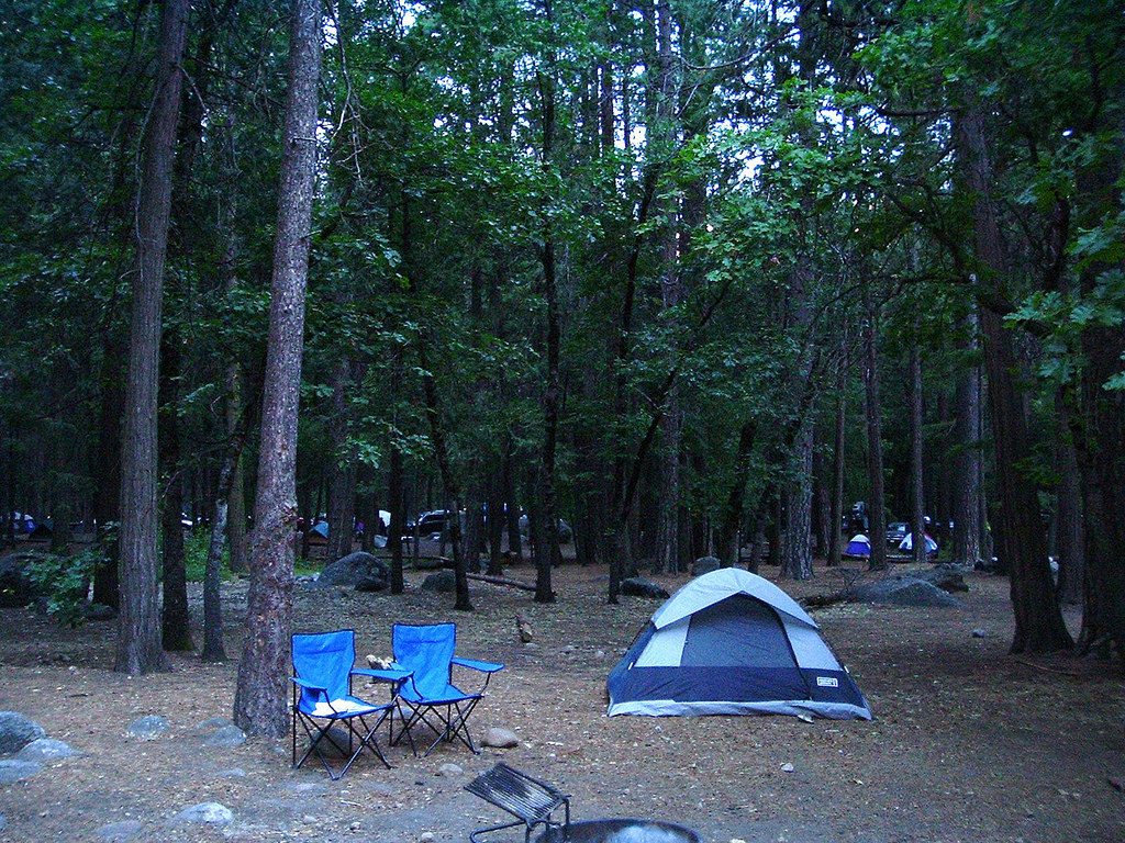 upper pines yosemite valley campgrounds in yosemite national park