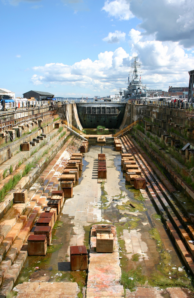 The Charlestown Navy Yard In Boston, Massachusetts