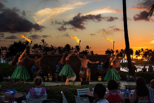 Waikoloa Beach Marriott Sunset Luau - Waimea, Hawaii