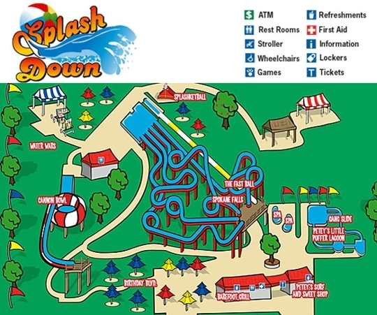 Splash Down Family Water Park In Spokane, WA