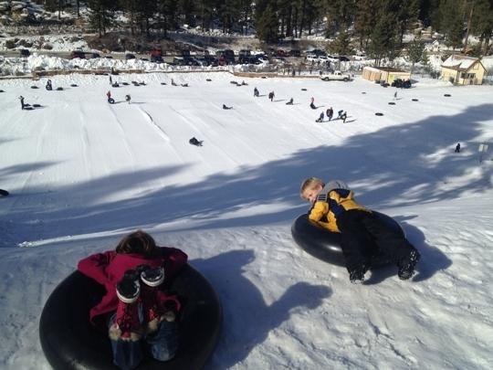 Snow Drift Tubing Park Running Springs Ca Kid