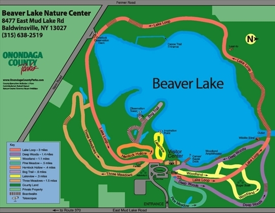 Beaver Lake Nature Center Trail Map