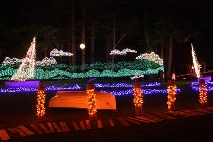 Lights Of Christmas At Warm Beach