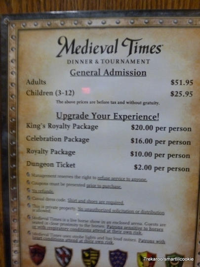 Medieval Times Myrtle Beach Prices
