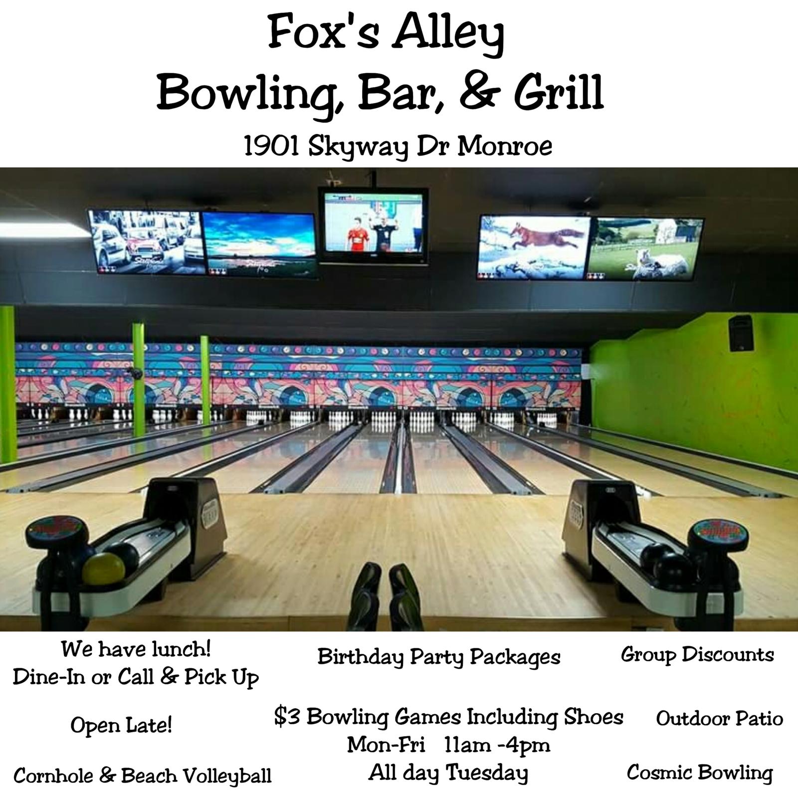 Fox's Alley Bowling In Monroe, NC