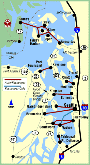Washington State Ferries Seattle Wa Kid Friendly