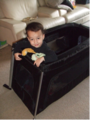 Lightweight Travel Cribs - Review of the phil&teds Traveller - family travel tip