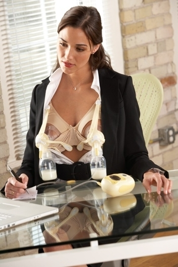 Erotic breast pumping