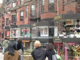 Newbury Street Shops, Art Galleries, and Restaurants - Boston, Massachusetts