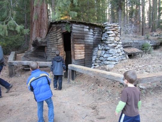 Tharp 39 s log sequoia national park ca kid friendly for Log cabin sequoia national park